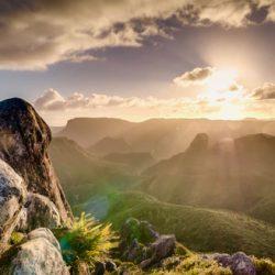 Lumière sur la montagne